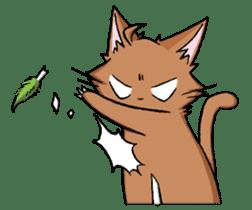 Tsundere cat and devil cat sticker #6934258