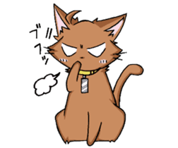Tsundere cat and devil cat sticker #6934260