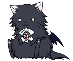 Tsundere cat and devil cat sticker #6934261