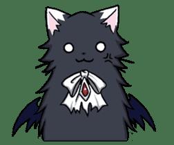 Tsundere cat and devil cat sticker #6934277