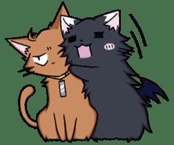 Tsundere cat and devil cat sticker #6934282
