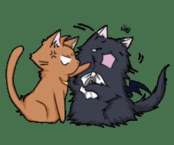 Tsundere cat and devil cat sticker #6934283