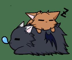 Tsundere cat and devil cat sticker #6934284