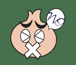 Onion boy life expression sticker #6934414