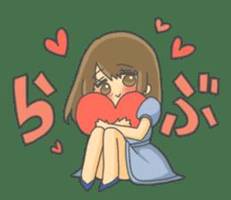 lovely lovely girl sticker #6934535