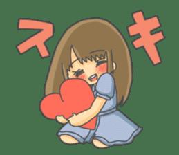lovely lovely girl sticker #6934546