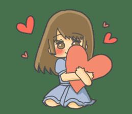 lovely lovely girl sticker #6934554