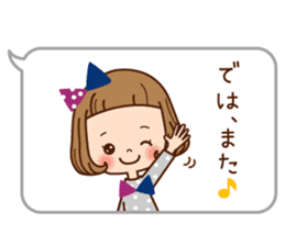 The balloon sticker of the girl. sticker #6935158