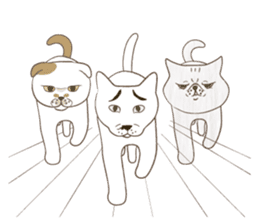 The daily life done freely of funny cat sticker #6937769