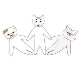 The daily life done freely of funny cat sticker #6937771