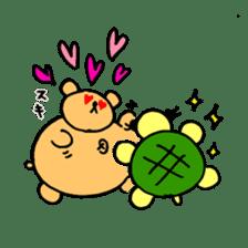 "Your familiar BEAR, ""PONKUMA""! sticker #6937837"