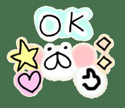 yuruyuru face message sticker #6938058