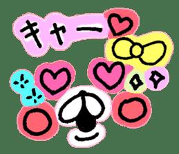 yuruyuru face message sticker #6938078