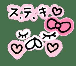 yuruyuru face message sticker #6938079