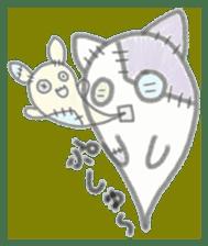 fluffy patch  cat sticker #6961962