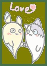 fluffy patch  cat sticker #6961981