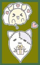 fluffy patch  cat sticker #6961985