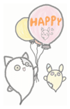 fluffy patch  cat sticker #6961986
