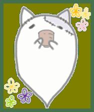 fluffy patch  cat sticker #6961990