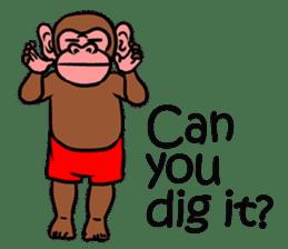 Cool Monkeys sticker #6962339
