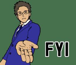 Buzzword salaryman TAKAHASHI 2 sticker #6962683