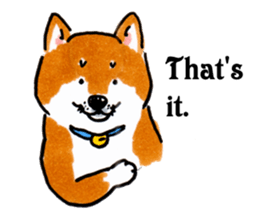 Life of the Shiba(English ver.) sticker #6966388