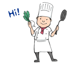 Cute chef sticker #6968560