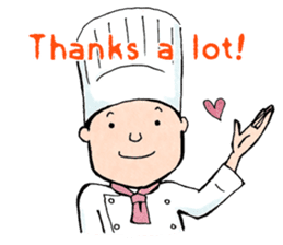 Cute chef sticker #6968566