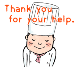 Cute chef sticker #6968567