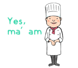 Cute chef sticker #6968572