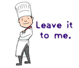Cute chef sticker #6968590
