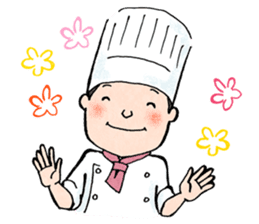 Cute chef sticker #6968594