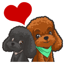 Hi! Poodles sticker #6968607