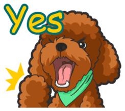 Hi! Poodles sticker #6968622