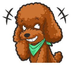 Hi! Poodles sticker #6968632