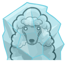 Hi! Poodles sticker #6968639