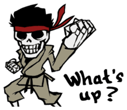 skeleton_karate sticker #6969240