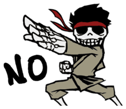 skeleton_karate sticker #6969242