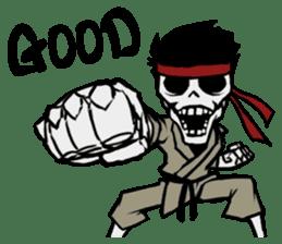 skeleton_karate sticker #6969243