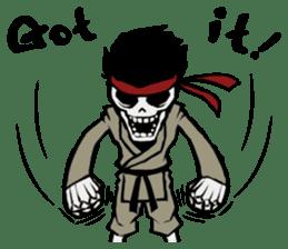 skeleton_karate sticker #6969250