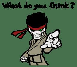 skeleton_karate sticker #6969251