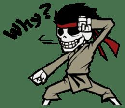 skeleton_karate sticker #6969252