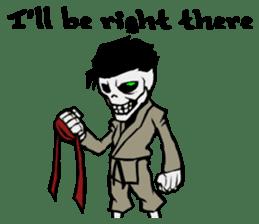 skeleton_karate sticker #6969256