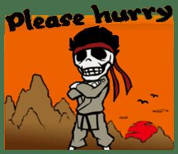 skeleton_karate sticker #6969257