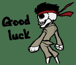 skeleton_karate sticker #6969259