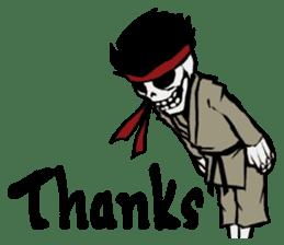 skeleton_karate sticker #6969260