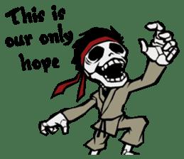 skeleton_karate sticker #6969262