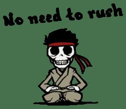 skeleton_karate sticker #6969273
