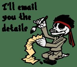 skeleton_karate sticker #6969275