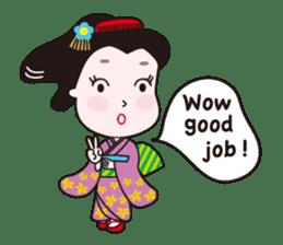 Geisha Mame-giku sticker #6982531